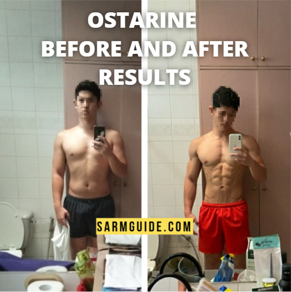 Ostarine before and after results with pictures