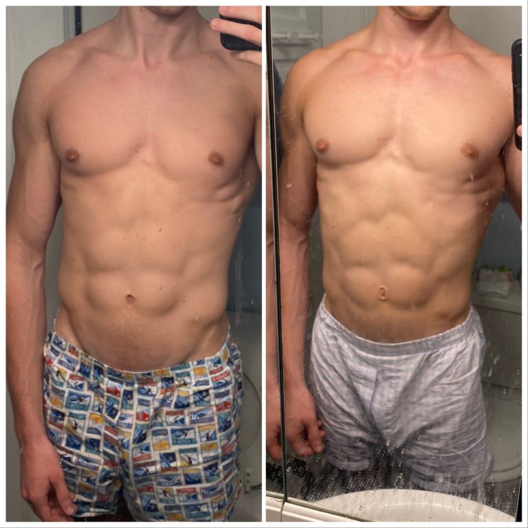 RAD 140 before and after photo